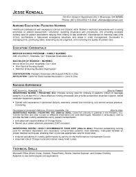 Resume Free Samples by Example Pediatric Nurse Resume Free Sample