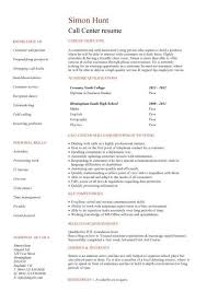 Call Center Customer Service Resume Examples by 28 Call Centre Resume Template Call Center Customer Service