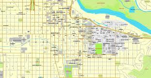 map of oregon eugene pdf map oregon us printable vector city plan