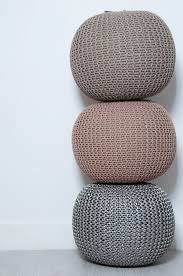 100 cotton handmade double knitted round stool braided cushion