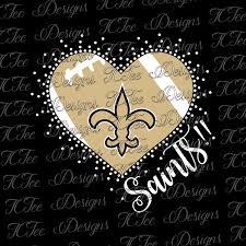 saints heart new orleans saints mixed media rhinestone