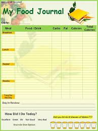 7 best images of food and exercise diary template printable food