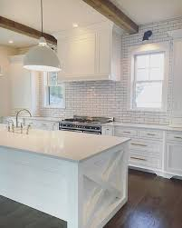 subway tile kitchen ideas subway tiles in kitchen pictures kitchen with wood beams white