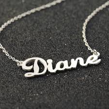 Custom Name Necklaces Aliexpress Com Buy Solid Silver Custom Name Necklace Bridesmaid