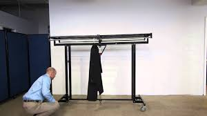 portable industrial strength folding coat rack by versare youtube