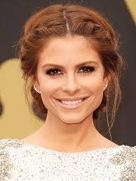 how to braid hair with middle part maria menounos with a middle part updo i wanna do this for sunday