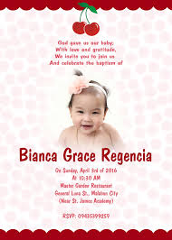 Baptismal Invitation Card Design Otep U0027s Portfolio