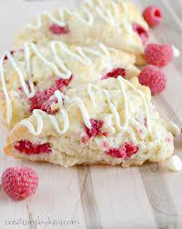 Chocolate Raspberry Recipes White Chocolate Raspberry Scones Creations By Kara