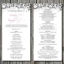 Simple Wedding Program Examples 6 Best Images Of Sample Wedding Ceremony Program Examples Church