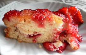 strawberry upside down cake yummy chunklet