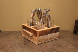 furniture charming wooden utensil caddy for spoons and knifes