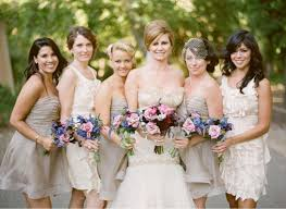 bridal party dresses bridesmaid dresses in different colors page 2 the knot