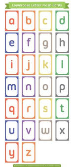 2 sets of free pdf with 26 printable alphabet cards in