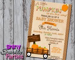 printable pumpkin baby shower invitation fall baby shower