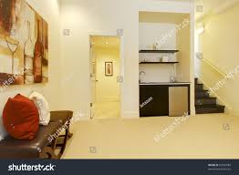 basement area living room bathroom near stock photo 99750089