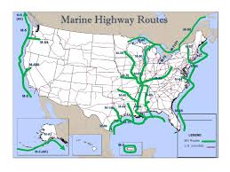 American Route Map by America U0027s Marine Highway Program U2013 Marad