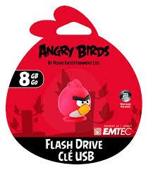 amazon emtec angry birds 8 gb usb 2 0 flash memory red bird