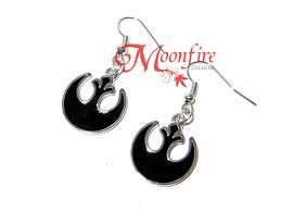 wars earrings wars rebel alliance black symbol earrings moonfire charms