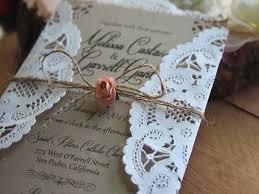 faire part mariage originaux faire part mariage avec dentelle original country wedding