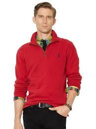 polo ralph lauren men u0027s half zip french rib cotton sweater large