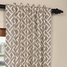 get martinique taupe printed cotton and drapes