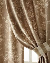 Brown And Ivory Curtains Curtain Sheer Curtain All Curtains U0026 Hardware At Neiman Marcus