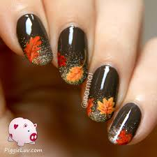 nail for thanksgiving and easy thanksgiving nail tutorials