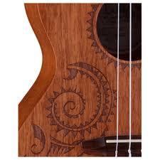 luna tattoo tenor ukulele mahogany at gear4music com