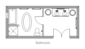 Bathroom Blueprint Ezblueprint Com