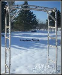 wedding arbor kits five white birch wedding arch birch arch and wedding