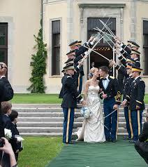 striking blue and white new york military wedding