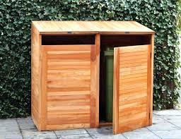 garbage can storage trash bin shed bins amazing large plans