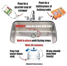 baking soda and vinegar clogged sink how to unclog a kitchen sink how to fix clogged kitchen sink unclog