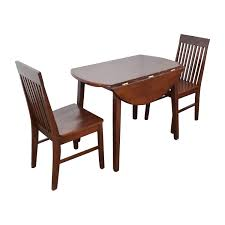 Second Hand Kitchen Table And Chairs by 60 Off Round Dining Table With Folding Sides And Chairs Tables