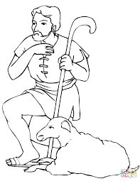 nativity shepard coloring page free printable coloring pages