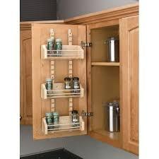 cabinet door mounted spice rack rev a shelf 4asr 15 4asr series adjustable door mount spice rack