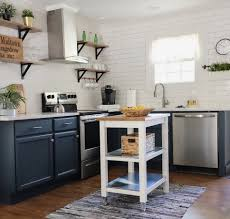 how to paint already painted cabinets painting cabinets going from white to navy cottage style