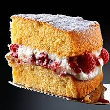 all in one sponge cake with raspberry and mascarpone cream