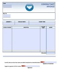 consulting invoice template word invoice example