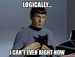 I Can T Even Meme - logically i can t even right now spock can t even make a meme
