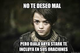 Arya Meme - arya stark meme memes quickmeme