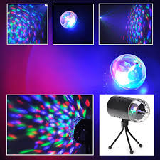 tsss led rgb sound active stage light for