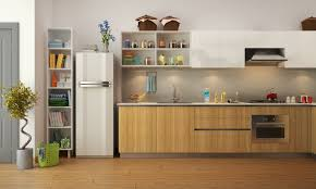 Kitchen With Pooja Room by Kitchen Design Trends Two Tone Color Schemes Interior Design Ideas