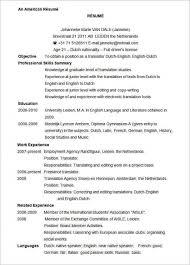 Electronic Resume Sample by American Resume Sample Jennywashere Com