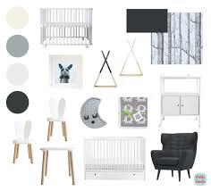 chambre enfant noir et blanc notre sélection amélie pour une chambre bébé tendance