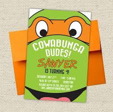 free ninja turtles birthday invitations template