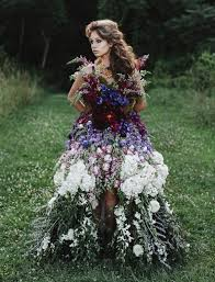 flower dress floral haute couture the dress made of flowers bored panda