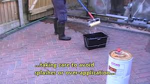 Concrete Patio Sealer Reviews by Sealing A Block Paved Driveway Youtube