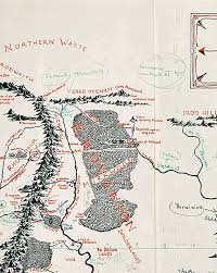 map from lord of the rings j r r tolkien made an annotated lord of the rings map of middle
