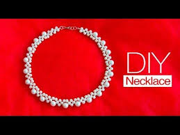 pearl necklace jewellery making images How to make pearl bridal necklace diy easy pearl necklace jpg